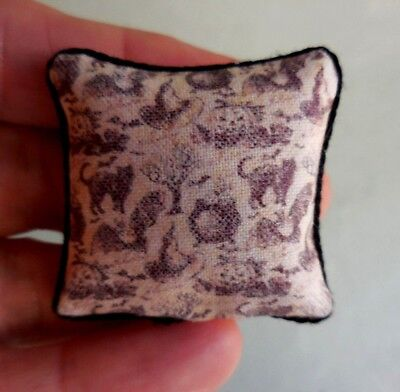 Dollhouse Miniature ~ Halloween Vintage Pillow