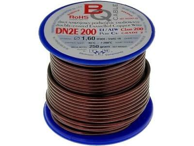 DN2E1.60/0.25 Coil wire double coated enamelled 1.6mm 0,25kg BQ CABLE