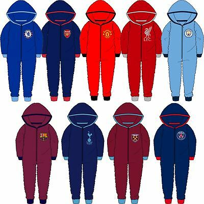 Childrens Boys/Girls Official Football Fleece Kids All In One Age 3-12 Years