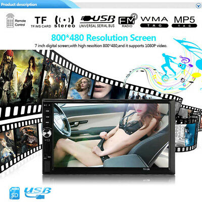 7 Zoll Auto Stereo Radio MP5 MP3 Spieler Fm USB Aux Voll HD Bluetooth Touch