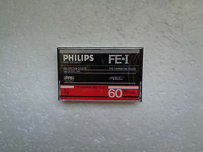 Vintage Audio Cassette PHILIPS FE*I 60 * Rare From 1984 * 2nd Version