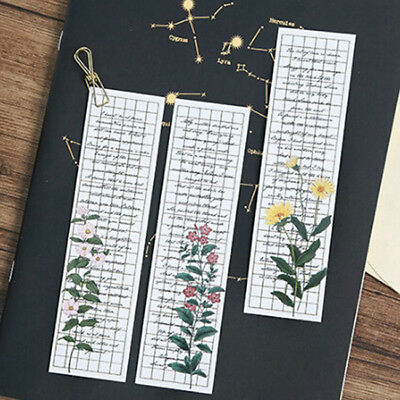 30Pcs Bookmarks Cute Magnetic Flower Colored Bookmarks for Notebook Book Student
