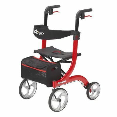 Drive Medical Nitro Euro Rollator Folding Walker Adult 4 Wheels 10266 *NEW!*