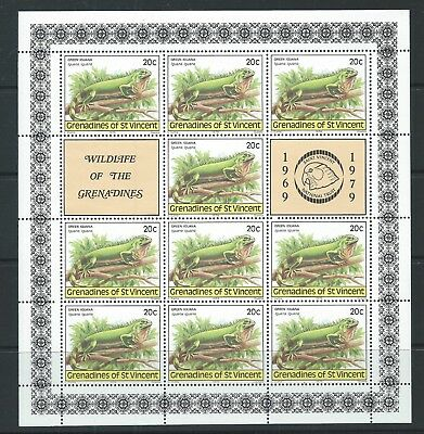GRENADINES of ST VINCENT 1979 SG149 20c - Green Iguana Sheet Mint MNH