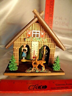 Vintage TOGGILI Wood Collectible House With Temperature Gauge WESTERN GERMANY