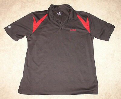Holloway Black & Red Coke Cola Large Polo Shirt
