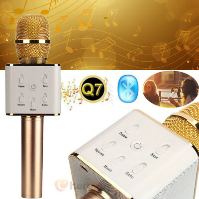 Q7 Wireless Microphone Speaker Bluetooth KTV Karaoke For iPhone Samsung + Gift