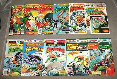 ADVENTURE COMICS #441-451 Complete Aquaman Lot 11 Issues VF-NM Movie DC #comics