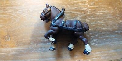 Vintage Cast Iron Clydesdale Horse