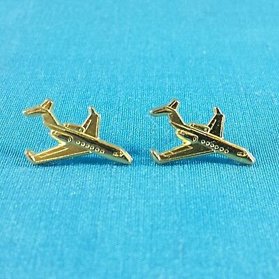 2 x Passenger Jet Airplanes  - Lapel Tie Pin Badges With Butterfly Clutch Clasps