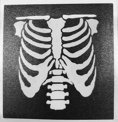 5 Skeleton Ribs Halloween stencils top up ur glitter tattoo kit facepainting
