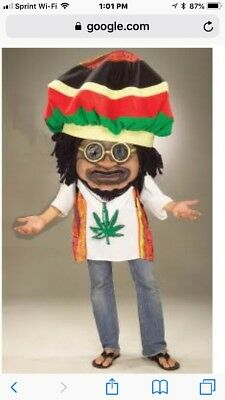 Rasta Mon Jamaican Halloween Parade Costume Adult One Size Mens Womens $84