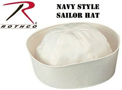 Rothco Navy Sailor Hat Cap GI Military WW2 WWII Gob Dixie Cup Style 5521
