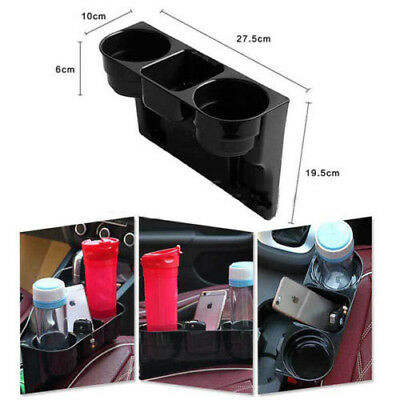 2pcs Car Cup Holder Drink Beverage Seat wedge Auto Truck Black Convenient Tool