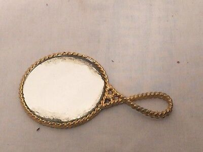 Antique Vintage Small Double Sided Hand Held Mirror  B101