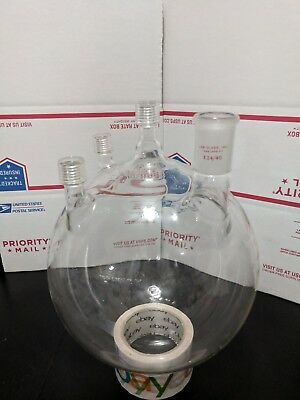 ACE Pyrex Distillation Reaction Boiling Flask 5000ml Lab Glass 24/40 #11 Thread