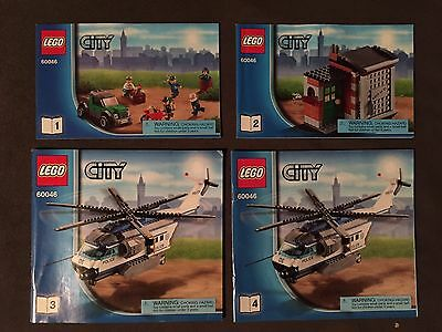 Lego City 60045 Instruction Manuals Only Book 1 To 4 1144