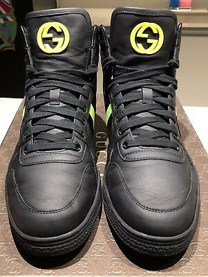 11b315b7c Men's Gucci Black Leather High-Top Coda With Web Detailing Sneaker 9.5G/  10.5