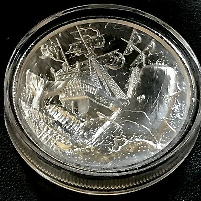 Elemetal Privateer White Whale 6th in Series 2oz 999 Fine Silver Art Round Ship