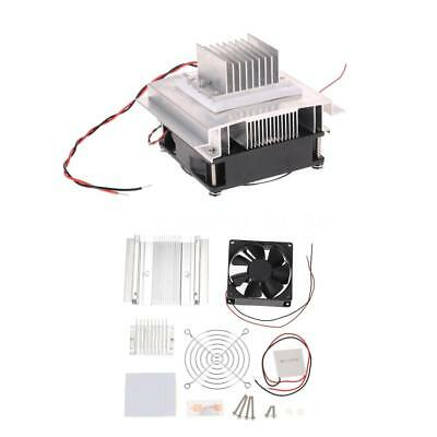 Thermoelectric Peltier Refrigeration Cooling System Kit Cooler Fan Module Y5Z7