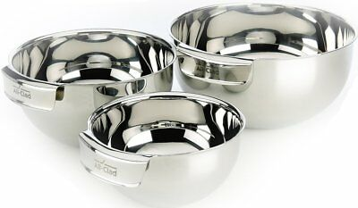 All-Clad MBSET Stainless Steel Dishwasher Safe Mixing Bowls Set Kitchen
