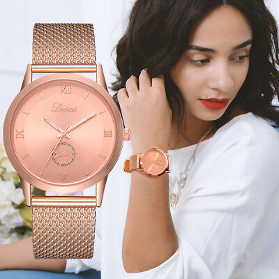 Fashion Quartz Wrist Watch  Women's Ladies Silicone Strap Analog Casual Watches