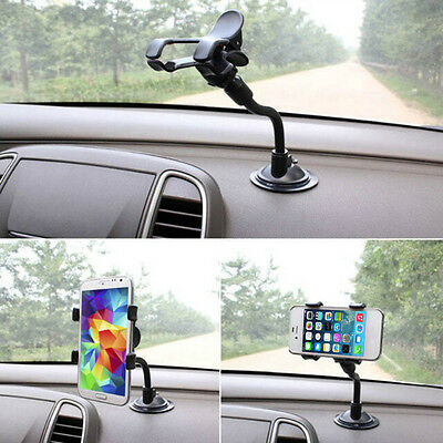 1X Windshield Mount Holder 360°Rotating Stand Bracket for Phone GPS Car