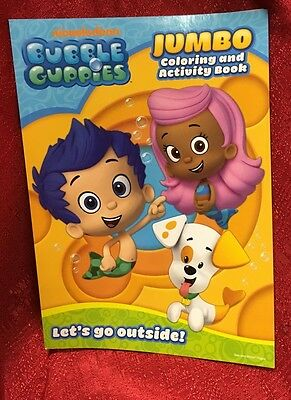 "Nickelodeon Bubble Guppies Jumbo Coloring & Activity Book ""Let's Go Outside"""