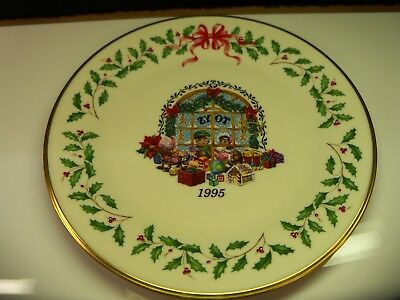 lenox 1995 annual holiday collector christmas plate 5th annual item 3983