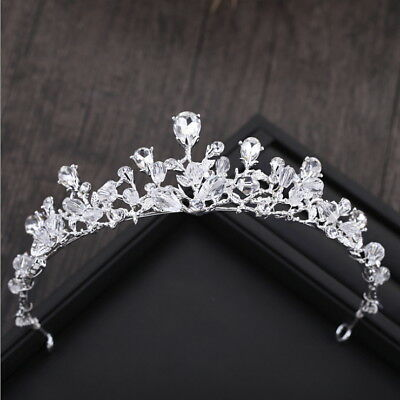 4.5cm High Drip Crystal Beads Wedding Bridal Party Pageant Prom Tiara Crown
