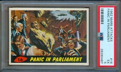 1962 Mars Attacks #16 Panic In Parliament Psa 5