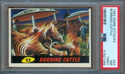 1962 Mars Attacks #22 Burning Cattle Psa 7 (Mc)