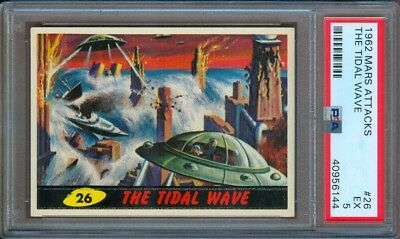 1962 Mars Attacks #26 The Tidal Wave Psa 5