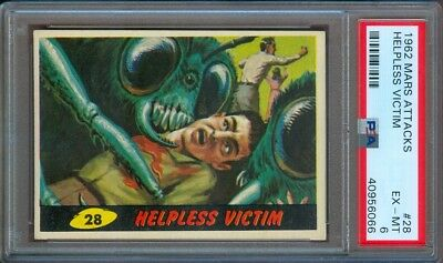 1962 Mars Attacks #28 Helpless Victim Psa 6