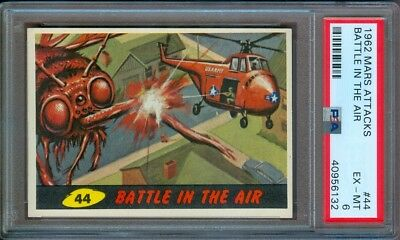 1962 Mars Attacks #44 Battle In The Air Psa 6