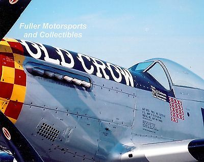 P-51 Mustang Old Crow Wwii 357Th Fg 8X10 Photo Usaf Us Air Force Fighter