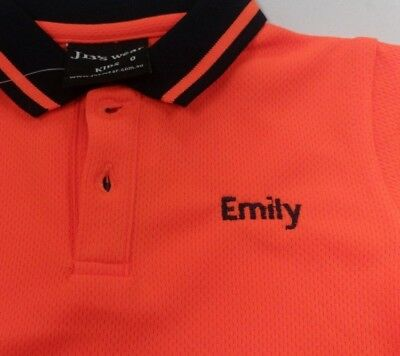 Kids High Vis Polo Shirt + Embroidered Text-Name - JBs Wear 6HVNC