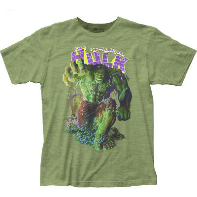 Authentic Marvel Comics The Incredible Immortal Hulk Adult Soft Fitted T-shirt