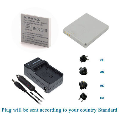 NB-4L Battery / Charger Kits For Canon 100 HS 300HS SD1000 1100IS 960 IS Mini