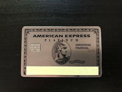 Rare Authentic Limited Edition American Express Platinum Metal Credit Card