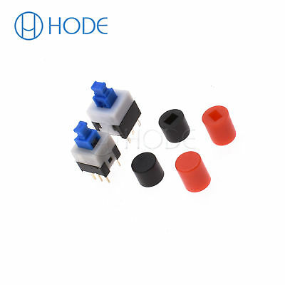 Tactile Push Button Switch 7X7/8X8mm Cap 6Pin Square Self-locking/no Lock DIP UK