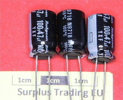 Rubycon YXF Radial Electrolytic Capacitor 47µF 100V 105°C (Pk of 4)