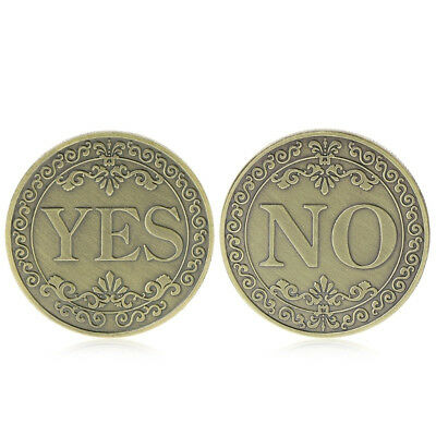 Bronze Embossed Yes No Decision Maker Finger Challenge Coin Collection