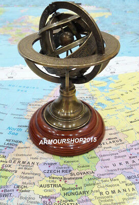 Nautical Solid Brass Sphere Armillary Collectible Office Decor Item
