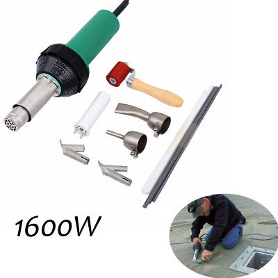1600W Hot Air Torch Plastic Welder Welding Heat Gun Pistol Kit+ Free Shower Hose