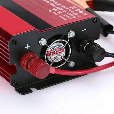 5DB4 1200W Car Auto Power Supply Inverter DC12V to AC220V Adapter with LCD Displ