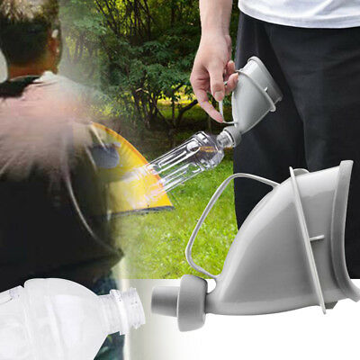 194A 2017 Unisex Portable Mobile Urinal Funnel Outdoor Travel Handle Urine Bottl