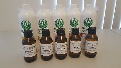5 x 50ml Fragrance Oils for Soap Bath Bomb Candle Melts Natures Garden FREE POST