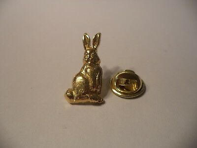 P77 New Brass Bunny Rabbit 4H Breeders Hat Jacket Lapel Pin Free Comb Ship