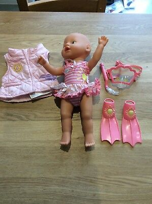Baby Born Doll Swimming Costume And Towel Set To Fit 13 Doll